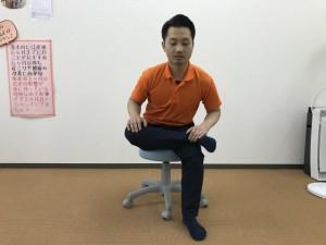 坐骨神経痛解消ストレッチ 伸ばす